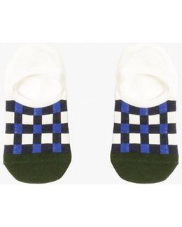 Gingham Liner Sock