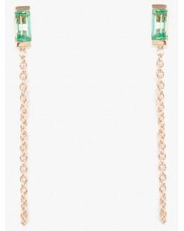 Galana Emerald Chain Stud - Single