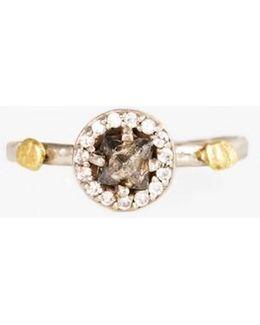 Grey Raw Diamond Nugget Ring
