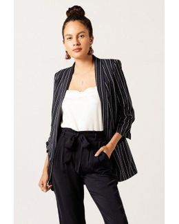 3/4 Sleeve Striped Blazer