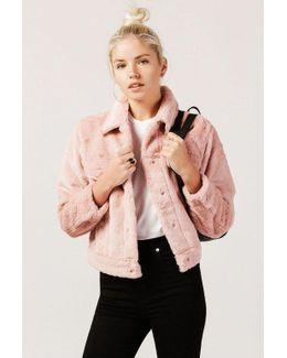 Cropped Plush Jacket