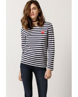 Striped Play L/s Tee