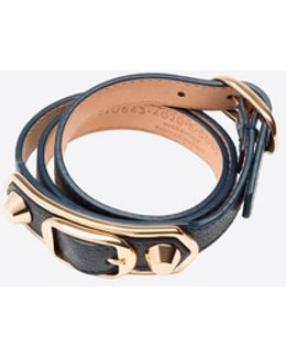 Classic Metallic Edge Bracelet Triple Tour