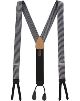 Formal Diagonal Ii Striped Silk Suspenders