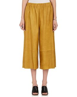 Leather Gaucho Pants