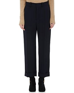 Crepe Crop Trousers