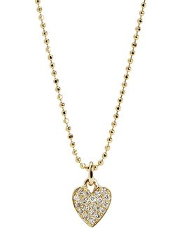 Pavé Diamond Heart Pendant Necklace