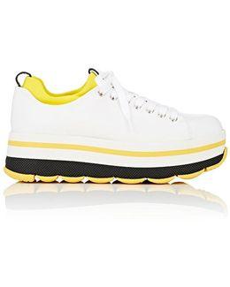 Leather & Neoprene Platform Sneakers