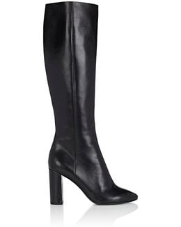 Loulou Leather Knee Boots
