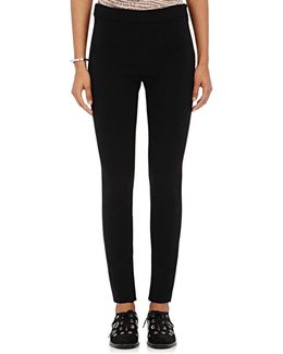 Slit-ankle Crepe Knit Pants