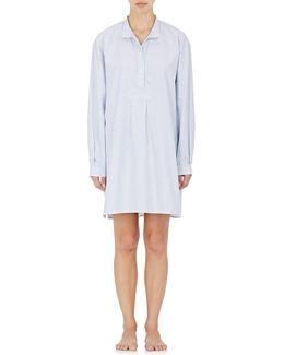 Striped Cotton Oxford Sleep Shirt