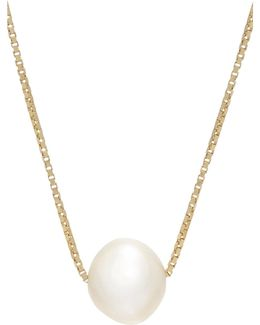 Pearl Pendant On Gold Chain