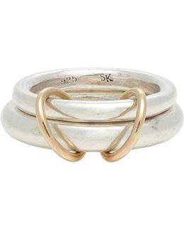 Sterling Silver & Rose Gold virgo Ring