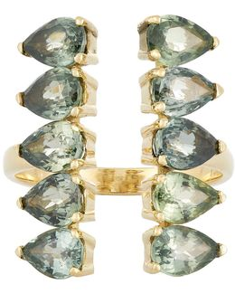 Gemstone Deco Column Ring