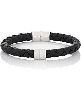 Leather Hinged Bracelet