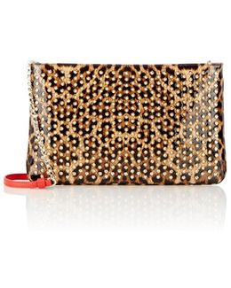 Loubiposh Studded Clutch