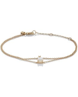 Diamond & Opal Chain Bracelet