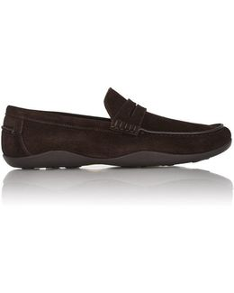 Suede Basel Penny Loafers