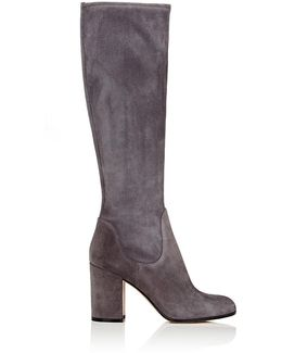 Stivale Suede Knee-High Boots