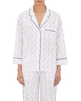 Marina Swiss Dot Cotton Pajama Top