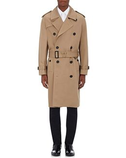 Cotton Double-breasted Trench Coat