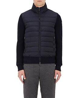 Down-quilted English Rib