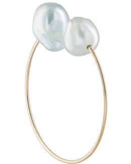 Baroque Pearl & Yellow Gold Ear Cuff