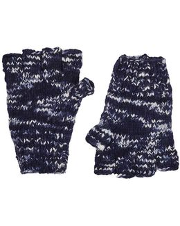 Mélange Cashmere Fingerless Gloves