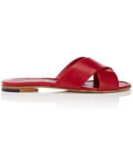 Otawipi Leather Slide Sandal