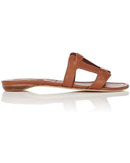 Grella Leather Slide Sandals