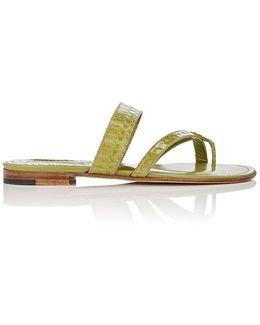 Susa Snakeskin Slide Sandals