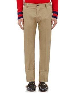 Cuffed Cotton Chino Trousers