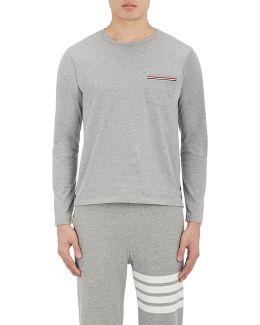 Mélange Cotton Long Sleeve T