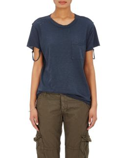 Lucy Cotton Distressed T