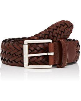 Braided Bridle Leather Belt