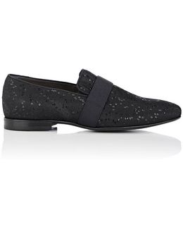 Sequined Canvas Venetian Loafers