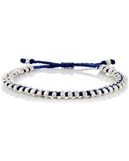 Beaded Waxed Cord Bracelet