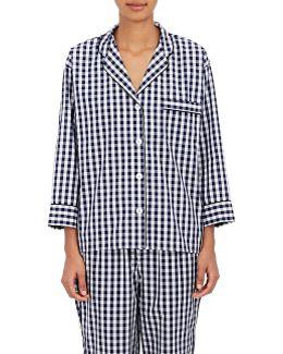 Marina Gingham Cotton Pajama Top
