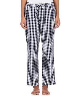 Marina Gingham Cotton Pajama Pants