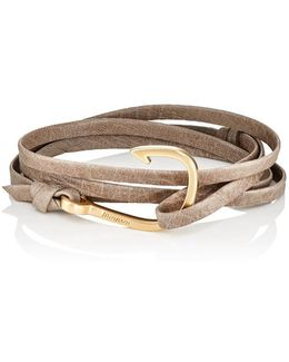 Hook On Leather Wrap Bracelet
