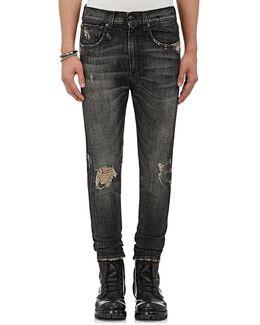 Drop Distressed Skinny Jeans