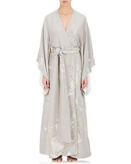 Silk Jacquard Kimono Robe