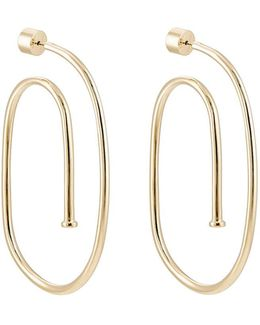 Large Pipe Hoop Earrings