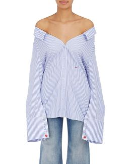 Striped Cotton Off-the