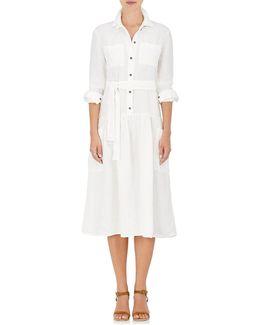 Linen Belted Shirtdress
