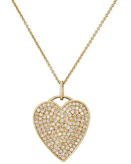 White Diamond Heart Pendant Necklace