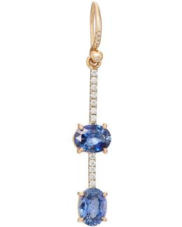 Sapphire & Diamond Drop Earring