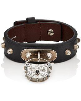 Padlock Leather Bracelet