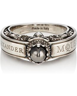 Engraved Skull Ring