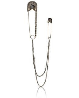 Oversized Safety Pin Brooch